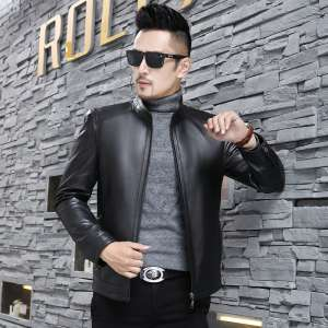 Soft and comfortable Haining leather men's leather thin section