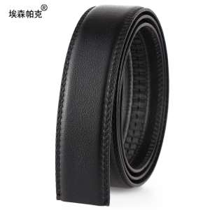 Double-sided first layer of leather does not take the head without a belt belt automatic buckle men do not buckle belt leather belt