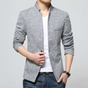 Huaxi Deli spring men's casual fashion small suit men's thin section collar collar Slim Korean version of the suit suit
