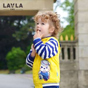 Lavla children's clothing | boy suit 2017 autumn baby cardigan suit | middle and young children two-piece suit 3-4-5 years old