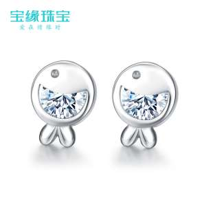 S925 silver clown fish earrings female fashion temperament anti-allergic earrings Korean simple wild sweet Japanese and Japanese earrings