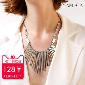 Yami Jia fashion atmosphere dress necklace accessories | short section tassel sweater chain women | wild European and American jewelry pendant