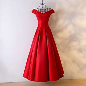The new bride 2017 new red long thin dress wedding dress banquet evening dress big summer
