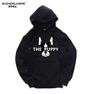 Tide brand Hong Kong wind ulzzang sweater male cartoon hooded loose skateboard long sleeve couple art couple sweater tide tide