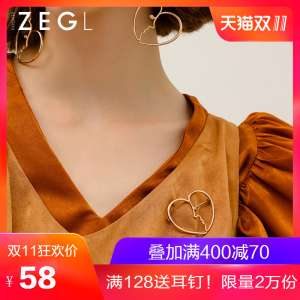 ZENGLIU Korean brooch female accessories jacket pin buckle cardigan simple wild clothes sweater buckle decorations
