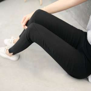 Spring and summer 2017 new pants nine points underwear black pants were thin vertical tight feet pants students Korean version