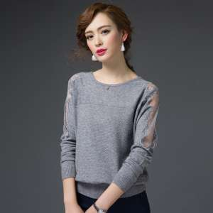 Knit Sweater Sleeve Long Sleeve Loose Loose Sweater 2017 New Spring Korean Hollow Tops