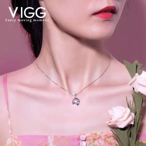 999 sterling silver necklace Japanese and Korean version of short paragraph accessories simple wild rose chain clavicle chain birthday gift lettering