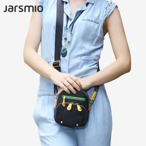 Miao Messenger Bag Handbag Nylon Pants with Leather Patch Canvas Bag Simple Fashion Mini Shoulder Sling