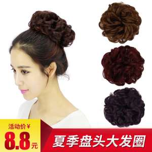Macro hair show wig hair band rubber band hair bag small flower bud flower bud head head flower simulation hair bun