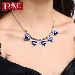 Dora jewelry | Europe and the United States exaggerated short sweater chain necklace accessories female | Korean version of the chain of chain lock chain